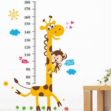 Monkey Growth Chart Wall Giraffe Monkey Growth Chart Wall Decal Growth Chart Wall