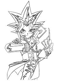 Yami bakura (dark bakura) pages. Yami Yugi Coloring Pages Kids Yu Gi Oh Cartoon Coloring Pages Arte De Dragao Desenhos Desenho