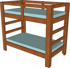 2 4 and 2 6 twin bunk bed plan