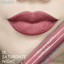 wardah exclusive matte lip cream no 18 saate night lazada indonesia