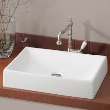 Rectangular Bathroom Sinks Shop Cheviot Quattro White Vessel Rectangular Bathroom Sink At