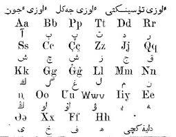 Arabic To English Alphabet Chart Kazakh Alphabets Wikipedia