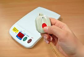 step 1 activate an alarm call by pressing the red on on your pendant or the monitoring unit