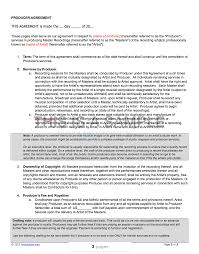 Artist Agreement Contract Producer Contract Template ProArtist 4