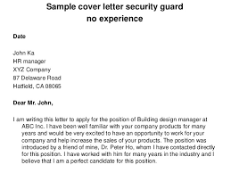 Security Supervisor Cover Letter How To Write Profile Summary In Resume For Freshers Sample