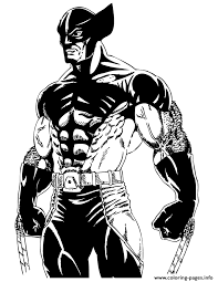 Small Picture cool wolverine from x men comic Coloring pages Printable