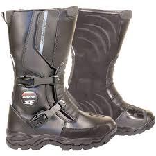 ke adventure wp leather boots black ke motorcycle