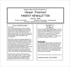 Preschool Newsletter Template Extraordinary Preschool Newsletter Examples Studiojpilates