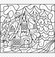 Kids can learn to identify different numbers, grasp basic math principles, and practice counting and writing. Difficult Color By Number Coloring Pages Png Image With Transparent Background Toppng