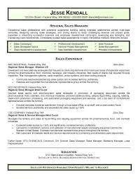 Sales Manager Resume Template Business Operations Manager Resume