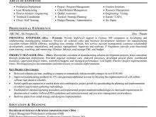 Project Management Resume Words Free Resume