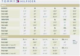 Tommy Hilfiger New York Fit Size Chart Tommy Jeans Size Guide 2019