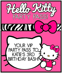 Hello Kitty Printable Party Invitations Free Pink Cones Skincense Co