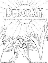 Free printable coloring pages for kids! Deborah Coloring Page Ministry To Children