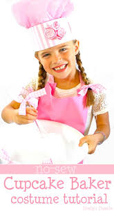 no sew cupcake baker costume pink a tutorial on the chef hat