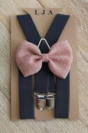 plum burlap bow tie and coffee brown leather suspenders set by london jae apparel