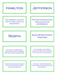 Federalists And Democratic Republicans Worksheets Teaching