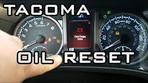 Tacoma Maint Reqd Light How To Reset Oil Maintenance Required Light Toyota Tacoma 2016 2020