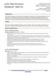 Web Developer Cv Junior Web Developer Resume Samples Qwikresume