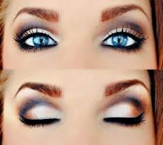 nice idea for makeup for blue eyes