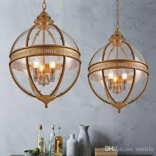 creative personality vintage chandelier lamp restaurant bar cafe american living room pendantlight wrought iron glass shade coloured glass pendant lights