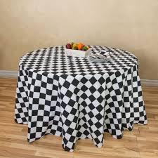 checker board round cotton tablecloth