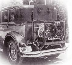 car air conditioning system. first automotive air conditioning system. photo courtesy ashrae car system