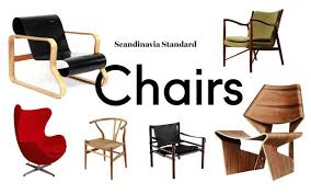 Scandinavian modern furniture Lounge Galaxie Modern Six Classic Scandinavian Midcentury Modern Chairs