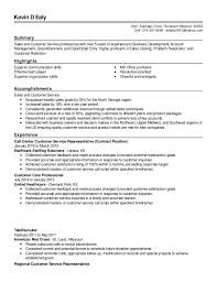 Customer Service Resume Summary Fascinating 60 Revised Sales And Customer Service Resume