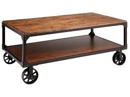 Industrial Coffee Table Cart Wheeled Coffee Tables Vintage Industrial All Metal Wheeled Cart