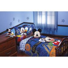 disney 174 mickey mouse 4 piece bed set blue toddler