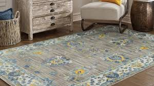 blue and yellow area rugs popular distressed traditional grey rug 5 3 x 7 6 free with 11