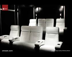 modern home theater furniture. contemporary modern cineak white fortuny seats in home theater modernhometheater on modern furniture