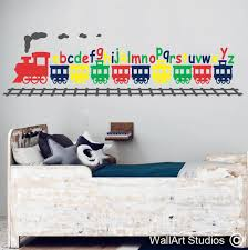 alphabet train wall sticker