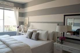 Captivating ... Amazing Ideas For Decorating Grey Bedroom: Pretty Gray Stripes For Zen  Style Pretty Grey Bedroom ...