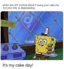 When You Are Excited About It Being Your Cake Day But Your Day Is