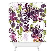 Floral In Plum Shower Curtain Natalie Baca