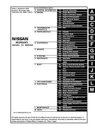 2003 Nissan Murano Service Engine Soon Light Reset 2004 Nissan Murano Service Repair Manual By 163101 Issuu
