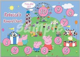 Peppa Pig Potty Training Reward Chart Printable Peppa Pig Reward Chart Personalised Behaviour Potty Training