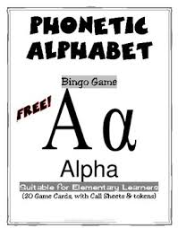This is a great game that everyone loves. Freebie Phonetic Alphabet 2 Full Bingo Games By Donnette Davis Tpt