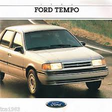 Details About 1988 Ford Tempo Brochure W Color Chart Lx Gl Gls 2300 Hsc 4wd