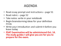 agenda essay prompt and instructions page rubric agenda essay prompt and instructions page 51 rubric page 52 take notes