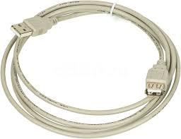 Купить Кабель-<b>удлинитель</b> USB2.0 <b>USB</b> A(m) - <b>USB</b> A(f), серый в ...