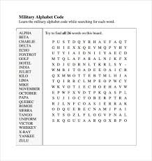 Some words were hard to understand under poor the other reason is because some of the previously used code words sounded similar to other there is more to the army alphabet then simply code words for letters. 11 Free Military Alphabet Charts Word Excel Templates