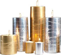 Gold and Silver candles png image