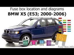 fuse box location and diagrams bmw x5 e53 2000 2006 fuse box location and diagrams bmw x5 e53 2000 2006