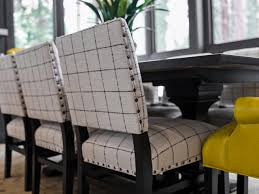 padded dining room chairs. Elegant Original Cloth Dining Room Chairs Perfect Minimalist Grey Fabric Padded N