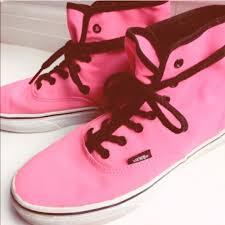 vans shoes high tops red. neon pink hi-top vans shoes high tops red