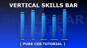 How To Create Vertical Skills Bar Graph Vertical Bar Chart With Html And Css Tutorial