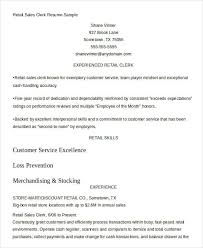 Gallery Of Clerk Resume For Sales Retail The Web Resume Sample For